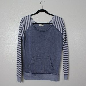 Ocean Drive Striped Soft Colorblock Long Sleeve. L